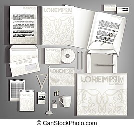 Vector company style for brandbook and guideline. - White...