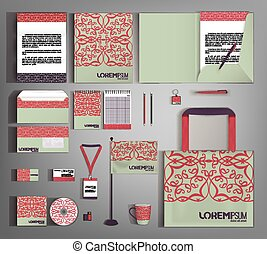 Vector company style for brandbook and guideline. - Green...