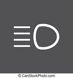 Distant light icon - Vector illustration of a sign on the...