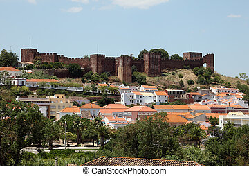 Old town Silves in Algarve, Portugal