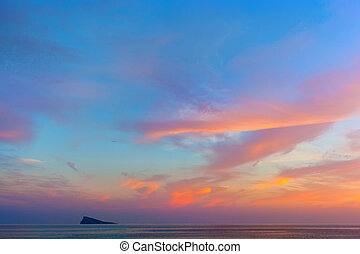 sea view on sunset - sea view on beautyful sunset. Clouds at...