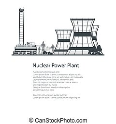Thermal Power Station , Poster Brochure Design - Silhouette...