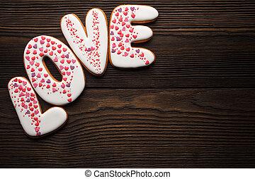 mastic, Galletas, dulce,  Valentines, azúcar, día, adornado