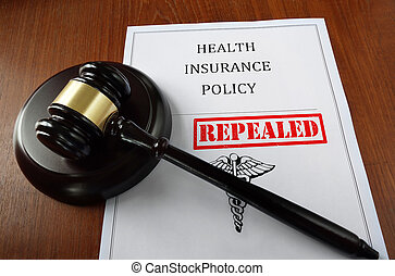 Repealed Health insurance gavel