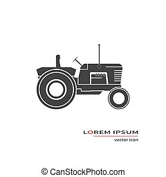 Farm tractor icon isolated on background. Vector...