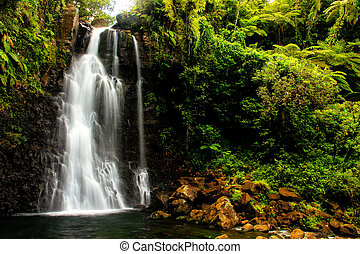 Middle Tavoro Waterfalls in Bouma National Heritage Park,...