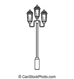 street lamp icon over white background. vector illustration