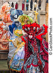 Amazing carnival masks in Venice, Italy