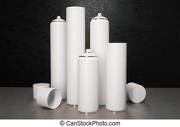 white spray paint bottle - many white spray paint bottle....