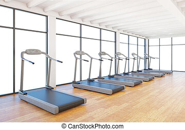 treadmills staying in gym