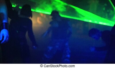 Slow motion dancer - Slow motion of a cyber dancer boy in...