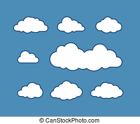 Cloud icons on vector illustration