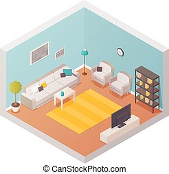 Living Room Design Composition