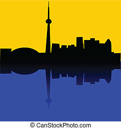 Toronto - Illustration of the skyline of Toronto, Canada,...