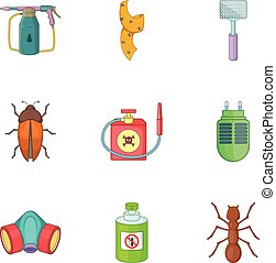 No insects icons set, cartoon style - No insects icons set....
