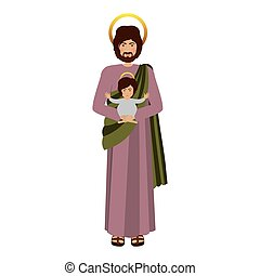 picture saint joseph with baby jesus