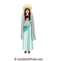 saint virgin mary with baby jesus