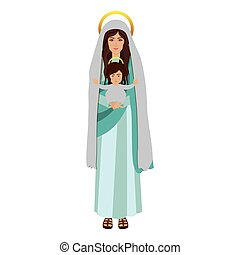 picture saint virgin mary with baby jesus