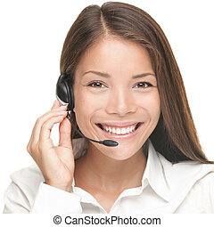 Customer Service Woman - Customer Service woman smiling...