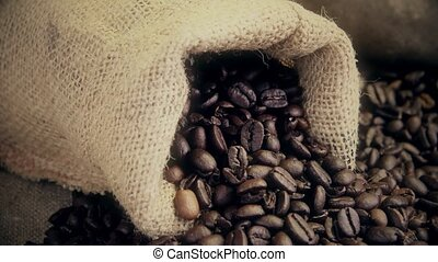 fresh coffee beans close up - roasted coffee beans close up