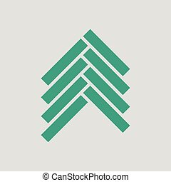 Parquet icon. Gray background with green. Vector...