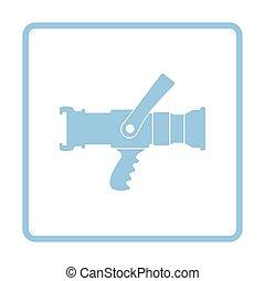 Fire hose icon. Blue frame design. Vector illustration.