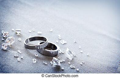 Pair Of Wedding Rings are elegance displayed.