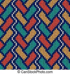 Knitting intertwined seamless pattern - Intertwining...