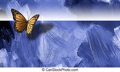 Graphic butterfly with texture background - Graphic digital...
