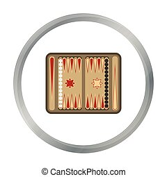 Backgammon icon in pattern - stock vector
