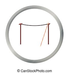 Tightrope icon in cartoon style isolated on white...