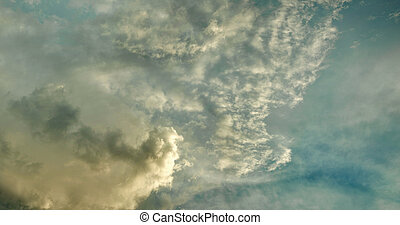Evening sky with stratus clouds - The evening sky with the...