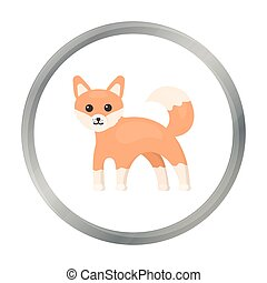 Fox icon cartoon. Singe animal icon from the big animals...