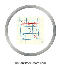 Tic-tac-toe icon in pattern - stock vector