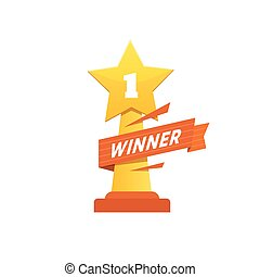 Winner icon award - Winner award icon design. Statuette for...