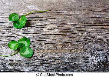 St. Patrick day greeting card with holidays symbol clover....