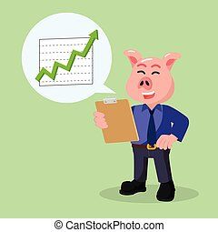business pig with increase reportment