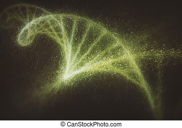 DNA - Deoxyribonucleic acid (DNA), molecule that carries the...