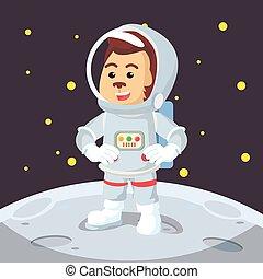 astronaut monkey illustration design