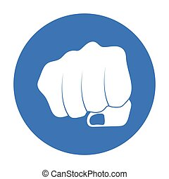 Fist bump icon in black style isolated on white background. Hand gestures symbol stock vector illustration.