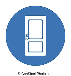 Door icon of vector illustration for web and mobile