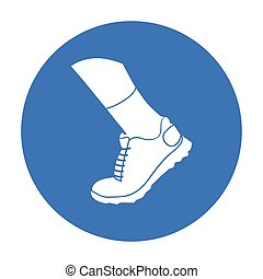 Sneakers icon in black style isolated on white background. Sport and fitness symbol stock vector illustration.