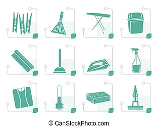 Stylized Home objects and tools icons
