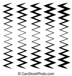 Wavy, zig-zag lines - Thinner and thicker versions....