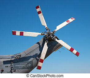 Tail rotors of a combat helicopter - The tail rotors of a...