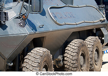 Police armored personel carrier - A police armoured...