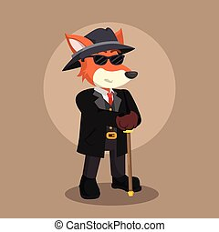 mafia fox illustration design