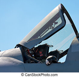 Cockpit of the EA-6B Prowler