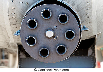 Nose mounted 30 mm cannon - Front view of a nose mounted...