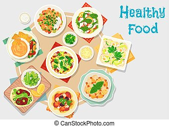 Hearty meal icon for dinner menu design - Hearty meal icon...